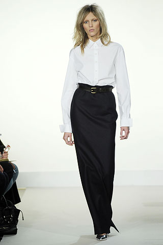 Aquascutum Maxi skirt and white shirt