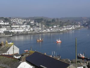 A perfect Spring morning in Fowey harbour