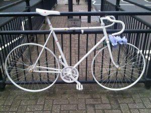 A ghost bike in Notting Hill, London