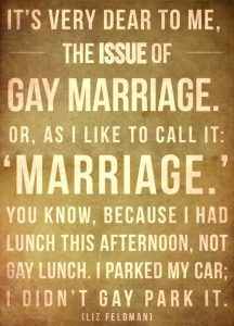 The issue of gay marriage
