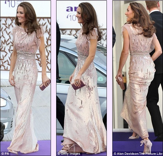 The Duchess of Cambridge dazzles in Jenny Packham at the ARK Gala Dinner