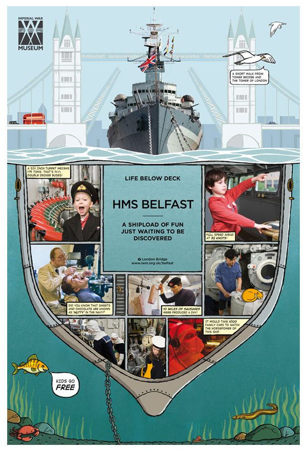HMS Belfast advertising campaign