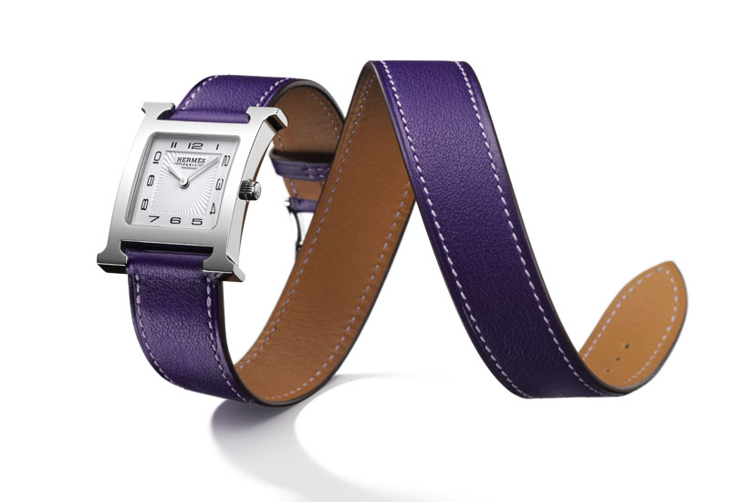 Hermes H-hour watch in iris