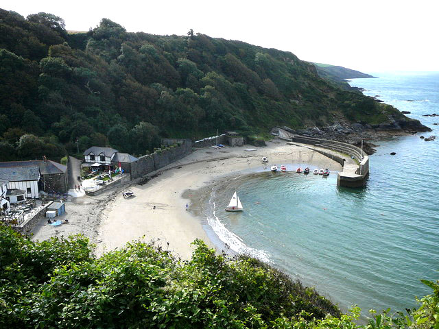 Polkerris beach in Cornwall
