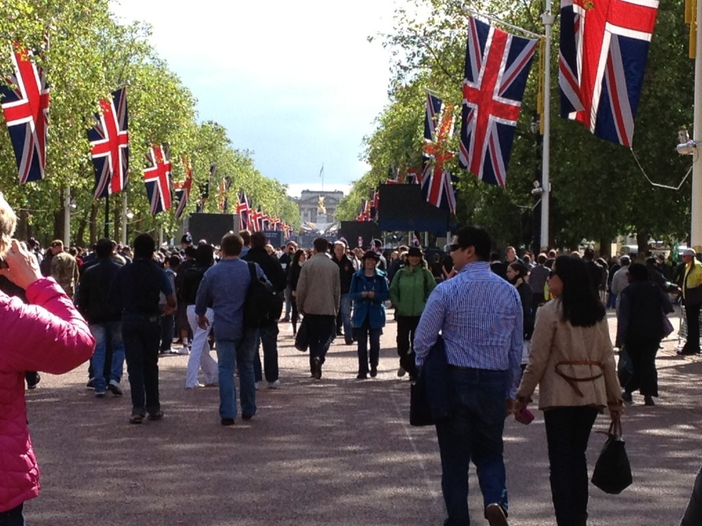 Walking down The Mall for the Jubilee concert