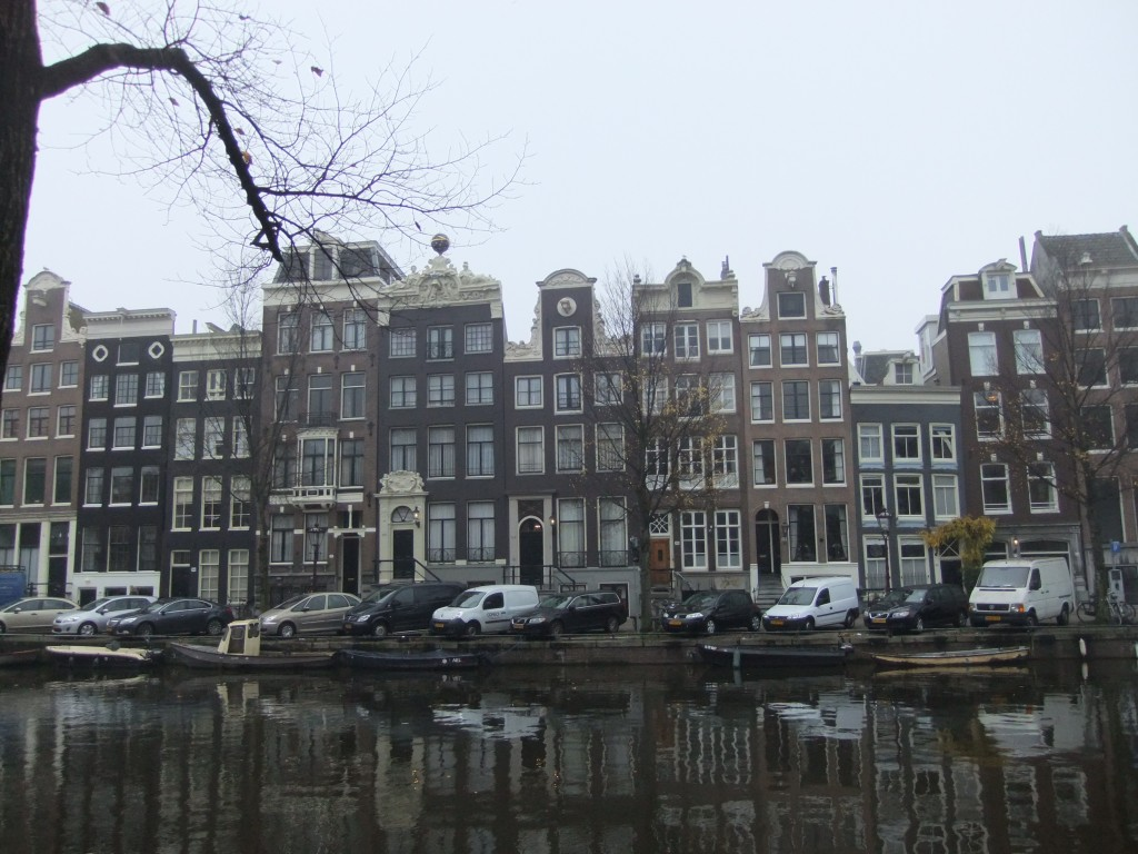 Tall narrow buildings in Amsterdam
