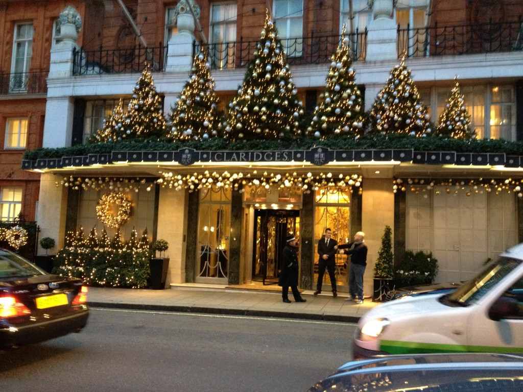 Claridges Hotel's Christmas decoration 2012