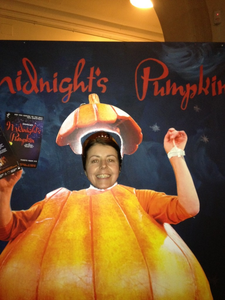 Karen at the Kneehigh Theatre's production of Midnight's Pumpkin