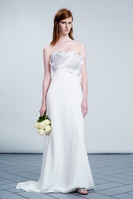 Viktor & Rolf strapless wedding dress