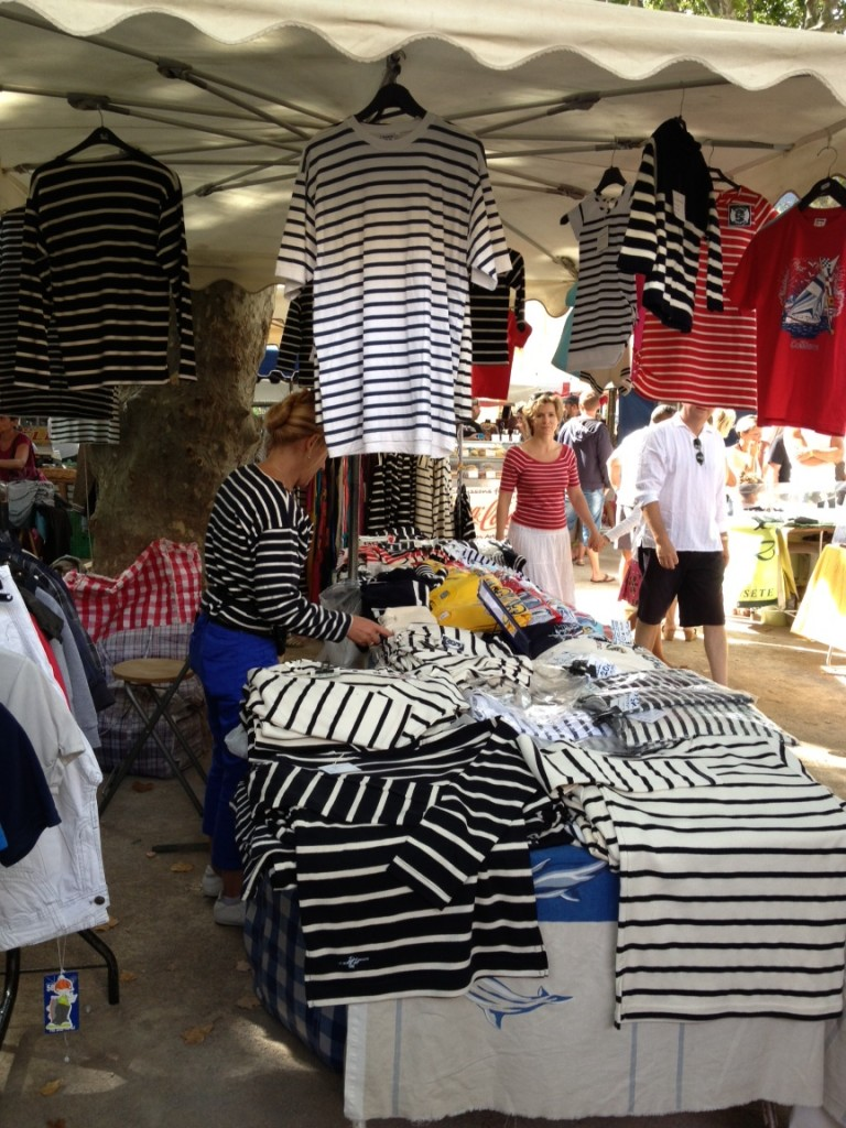 A Breton striped t shirt stall