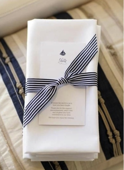 Grosgrain ribbon as a napkin ring