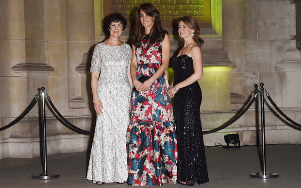 Duchess of Cambridge in Erdem floral evening dress