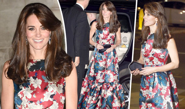 Duchess of Cambridge in floral Erdem evening dress