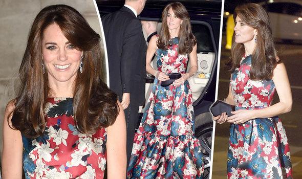 Duchess of Cambridge in floral Erdem evening dress