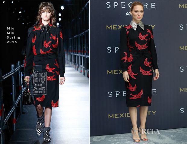 Lea Seydoux Miu-Miu-S16 Spectre Mexico City Photocall