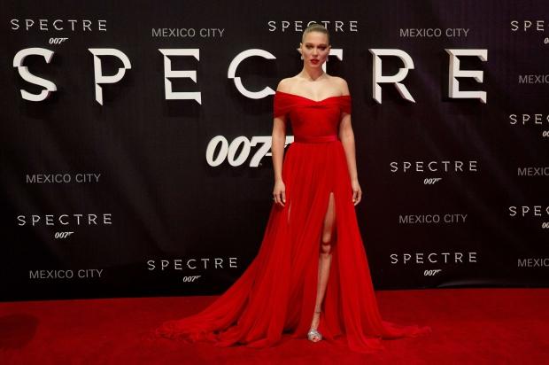 Lea Seydoux in Miu Miu Spectre premiere Mexico City