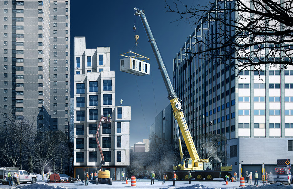 New York micro apartment building