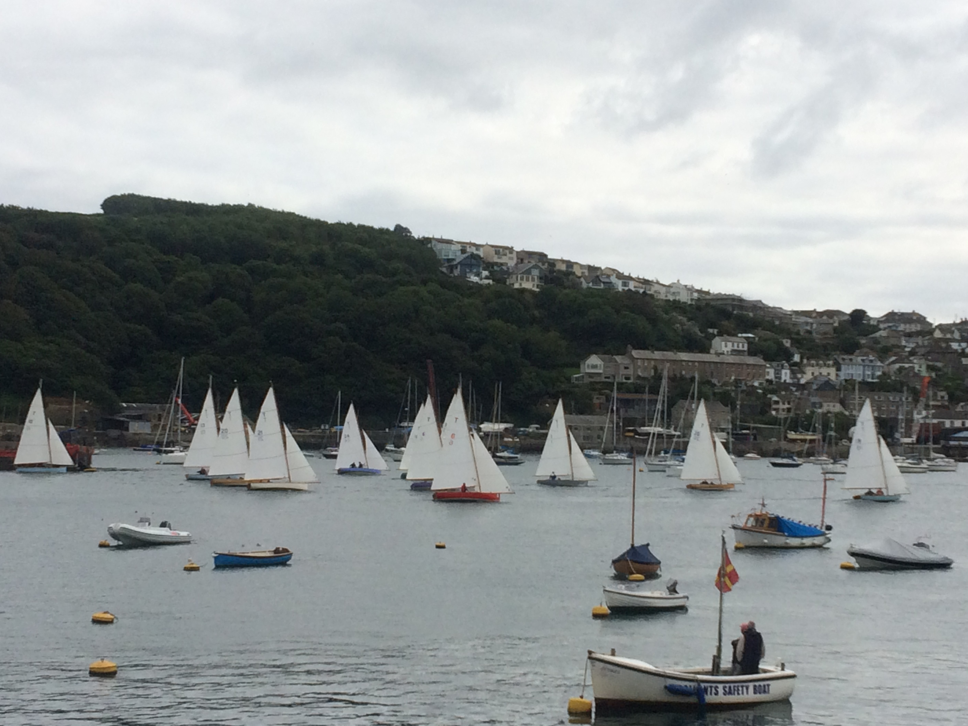 Troy class one design boats racing in Fowey