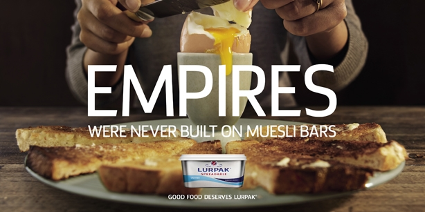 lurpak 'good food deserves' campaign